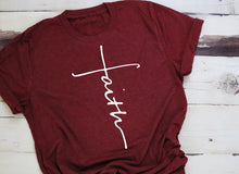Load image into Gallery viewer, Women's T-Shirt: Faith Cross