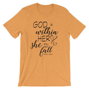 Women's T-shirts: God is within her