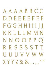 2990 Thin letter sheet GOLD