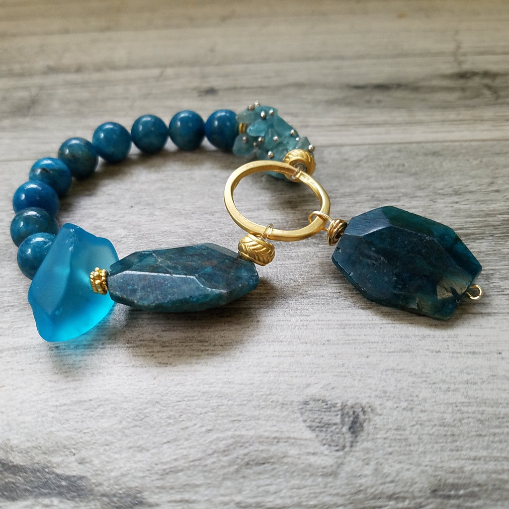 Gift of Joy: One-of-a-kind Apatite bracelet