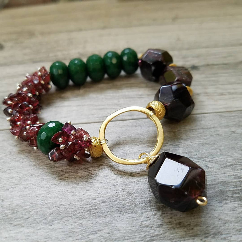 Gift of Passion & Vitality: Garnet & Jade Fusion