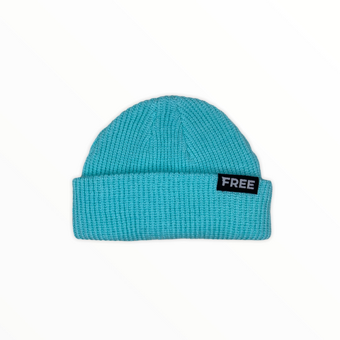 Signature Fisherman Beanie Mint Blue