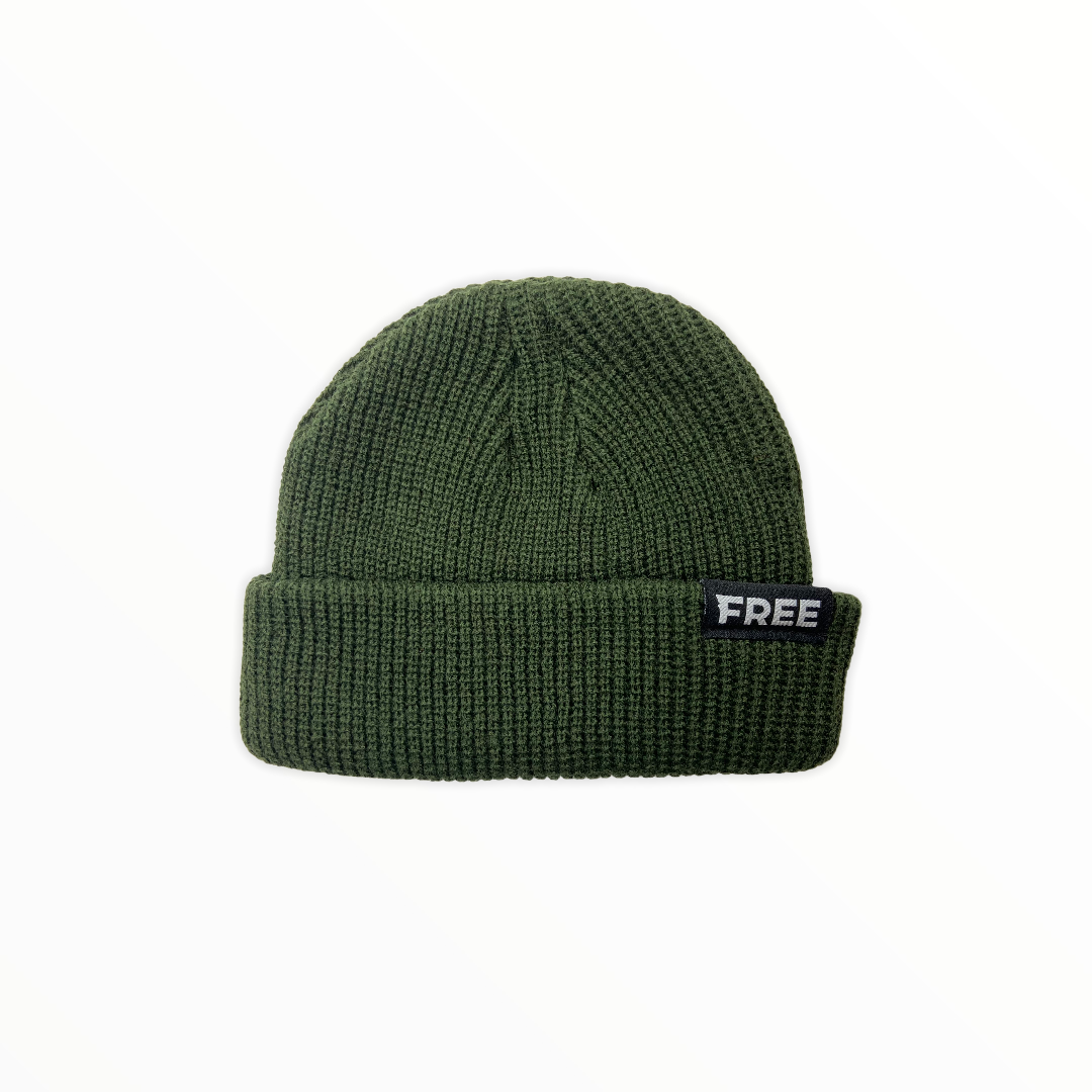 Signature Fisherman Beanie Army Green
