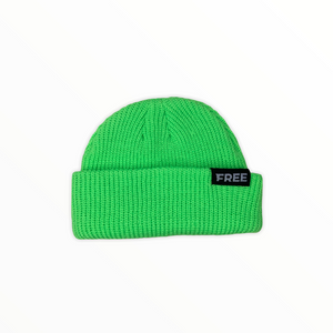 Signature Fisherman Beanie Lime Green
