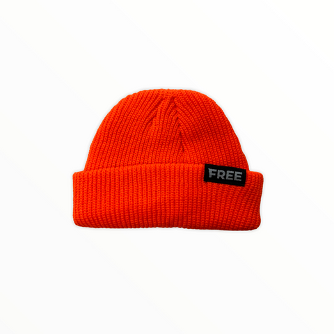 Signature Fisherman Beanie Neon Orange