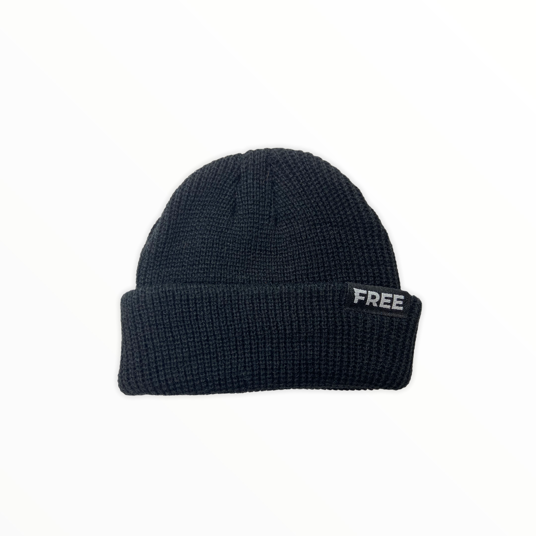 Signature Fisherman Beanie Black