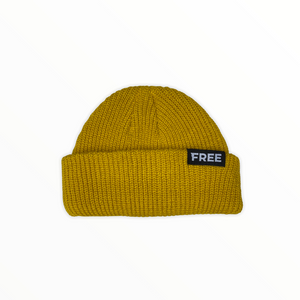 Signature Fisherman Beanie Mustard