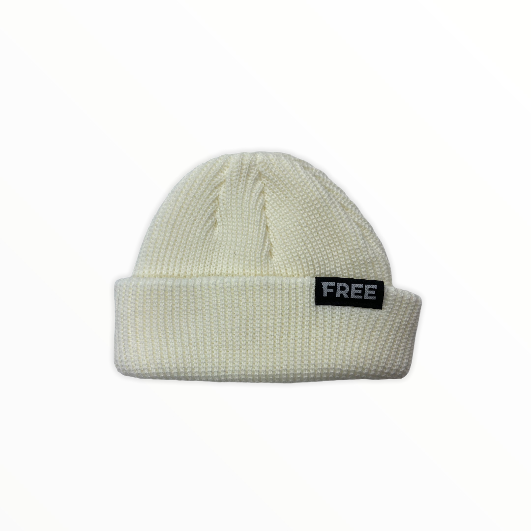 Signature Fisherman Beanie White