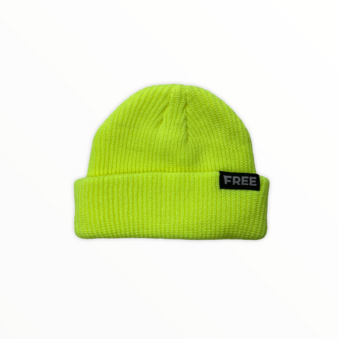Signature Fisherman Beanie Neon Yellow