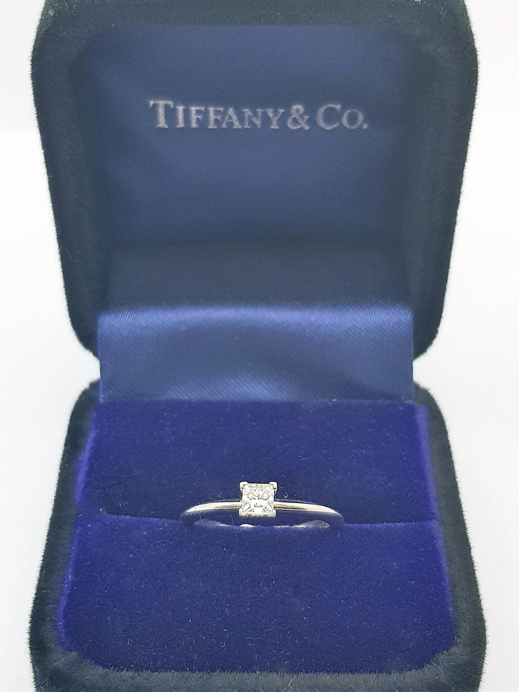Platinum Tiffany & Co. Solitaire Ring 0.25ct Diamond (RRP $2,750) Size K1/2 #21820