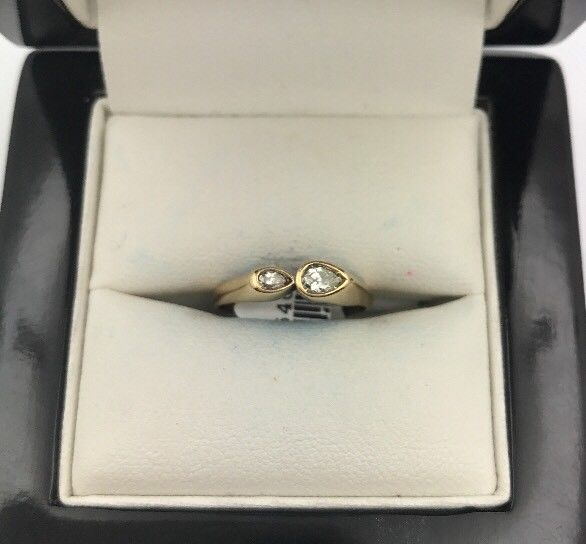 14CT/14K Yellow Gold Diamond Ring Size L (Guaranteed Genuine) #5405