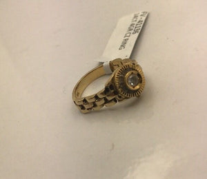 14CT/14K Yellow Gold Cubic Zirconia Ring Size I (Guaranteed Genuine) #41136