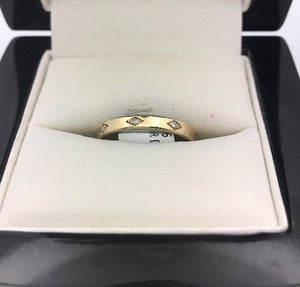 14CT/14K Yellow Gold Diamond Ring Size P (Guaranteed Genuine) #44696