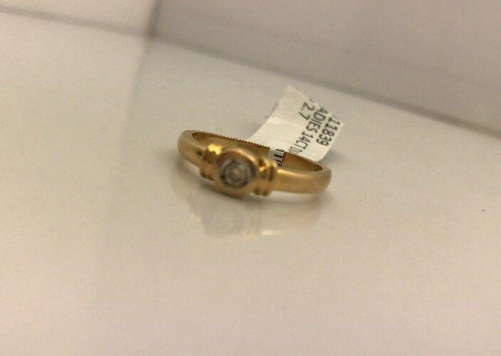 14CT/14K Yellow Gold Diamond Ring Size M (Guaranteed Genuine) #1011839