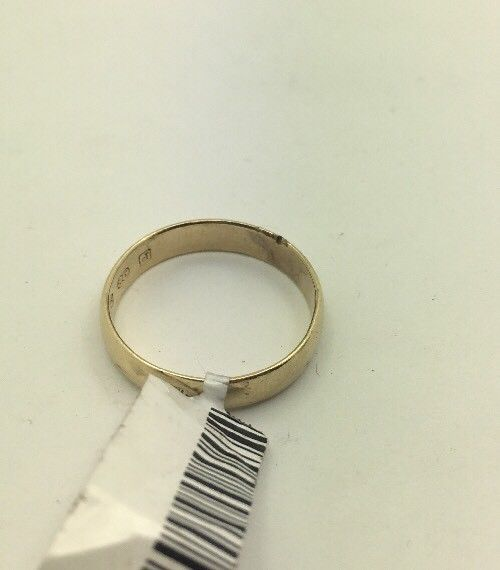 9CT/9K Yellow Gold Ring Size P (Guaranteed Genuine) #25862