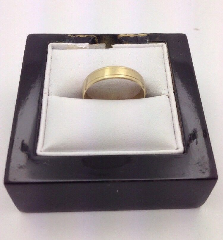 9CT/9K Yellow Gold Ring Size S (Guaranteed Genuine) #A808724