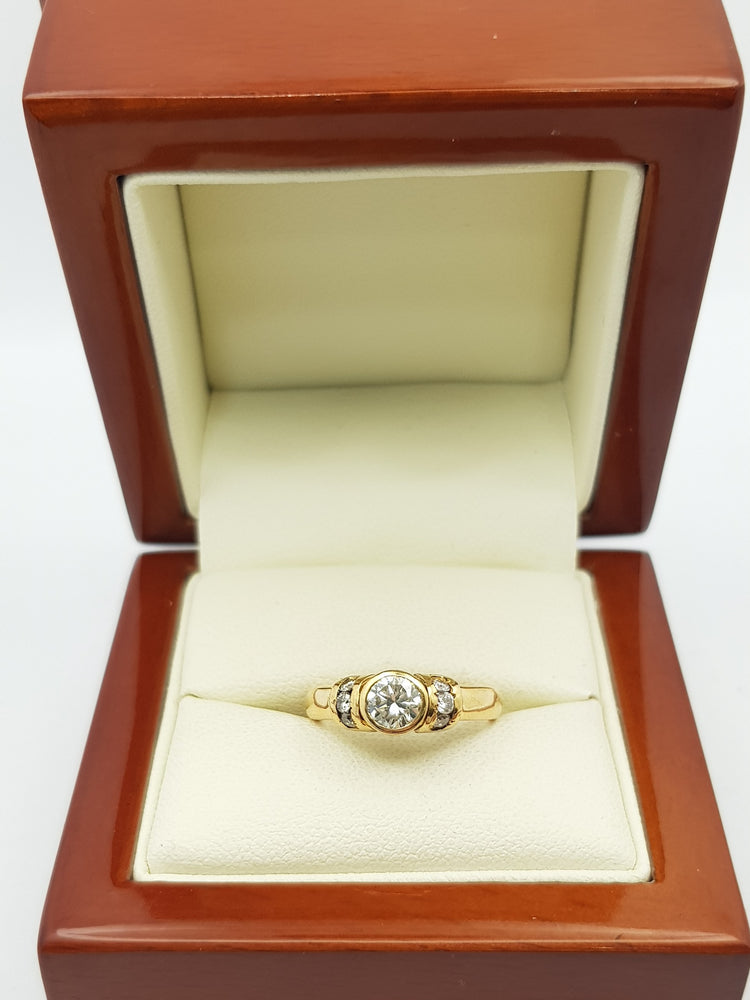 18ct Yellow Gold Diamond Ring 0.50ct (Val $8,230) Size I #40129