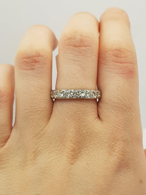 18CT White Gold 1.09ct Diamond Ring (Val $4,150) Size P #42022