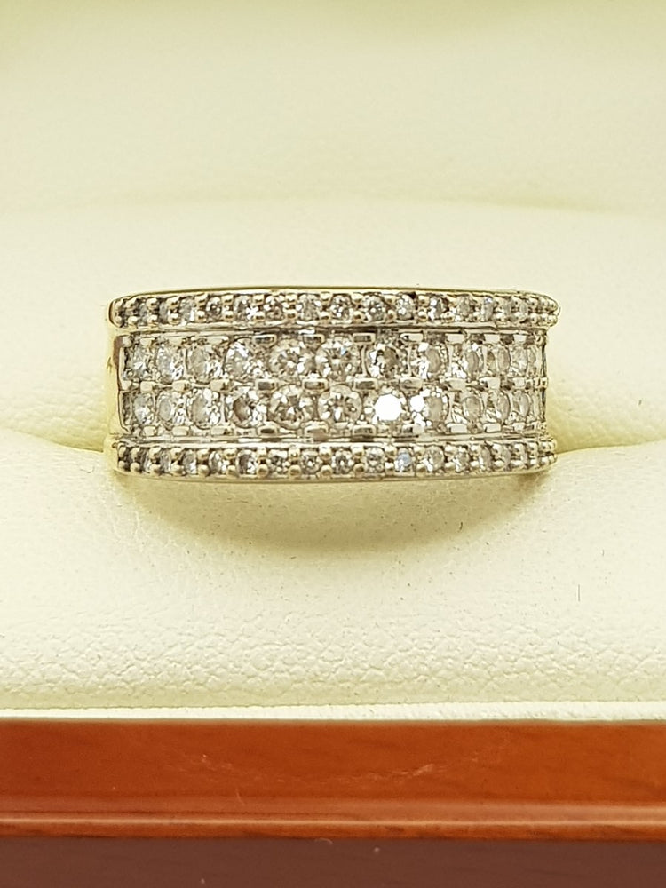 18CT Yellow Gold 1.05ct Diamond Ring (Val $5,195) Size Q1/2 #44883