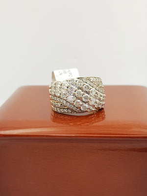 9CT Yellow Gold 2.05ct Diamond Ring (Val $5,599) Size N #45691