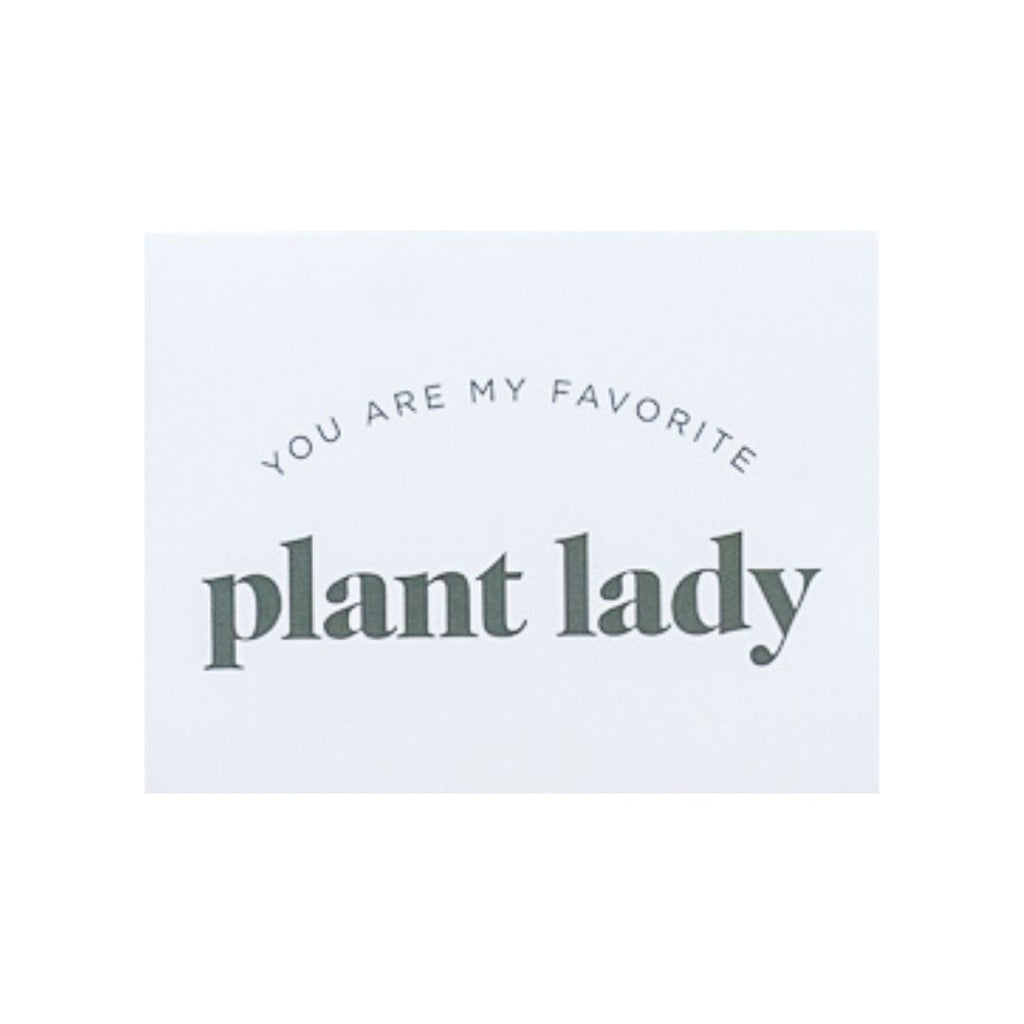My Favorite Plant Lady Card