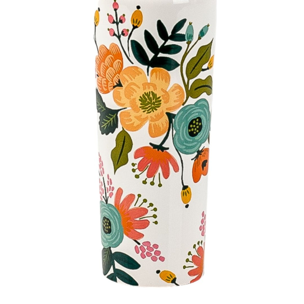 Creme Lively Floral Canteen 16 oz
