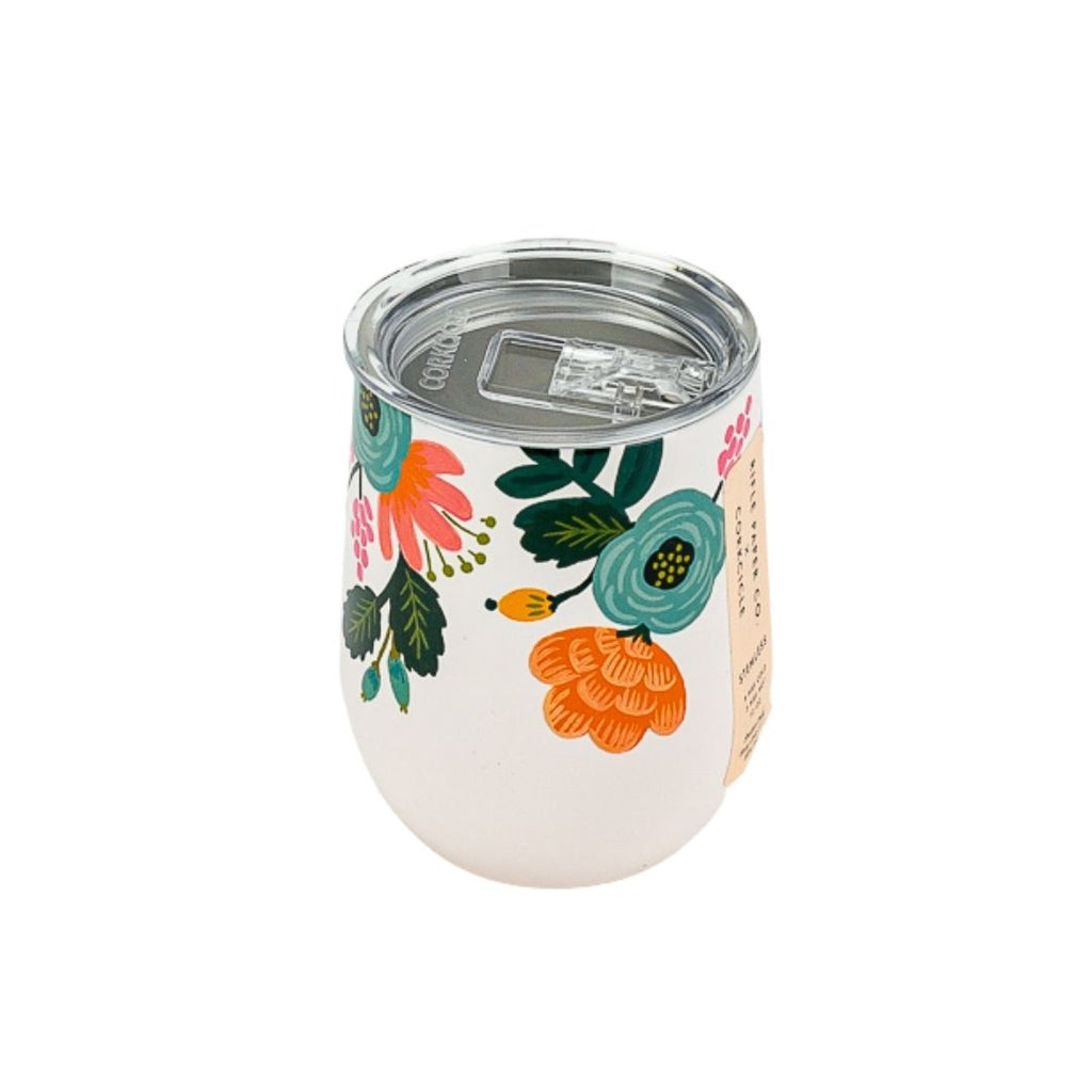 Lively Floral Stemless Wine Cup