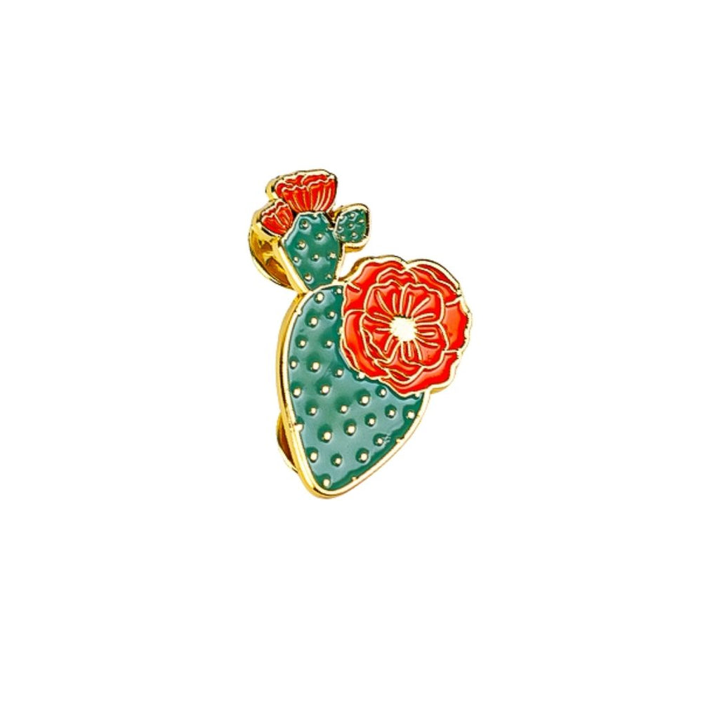 Blooming Cactus Lapel Pin
