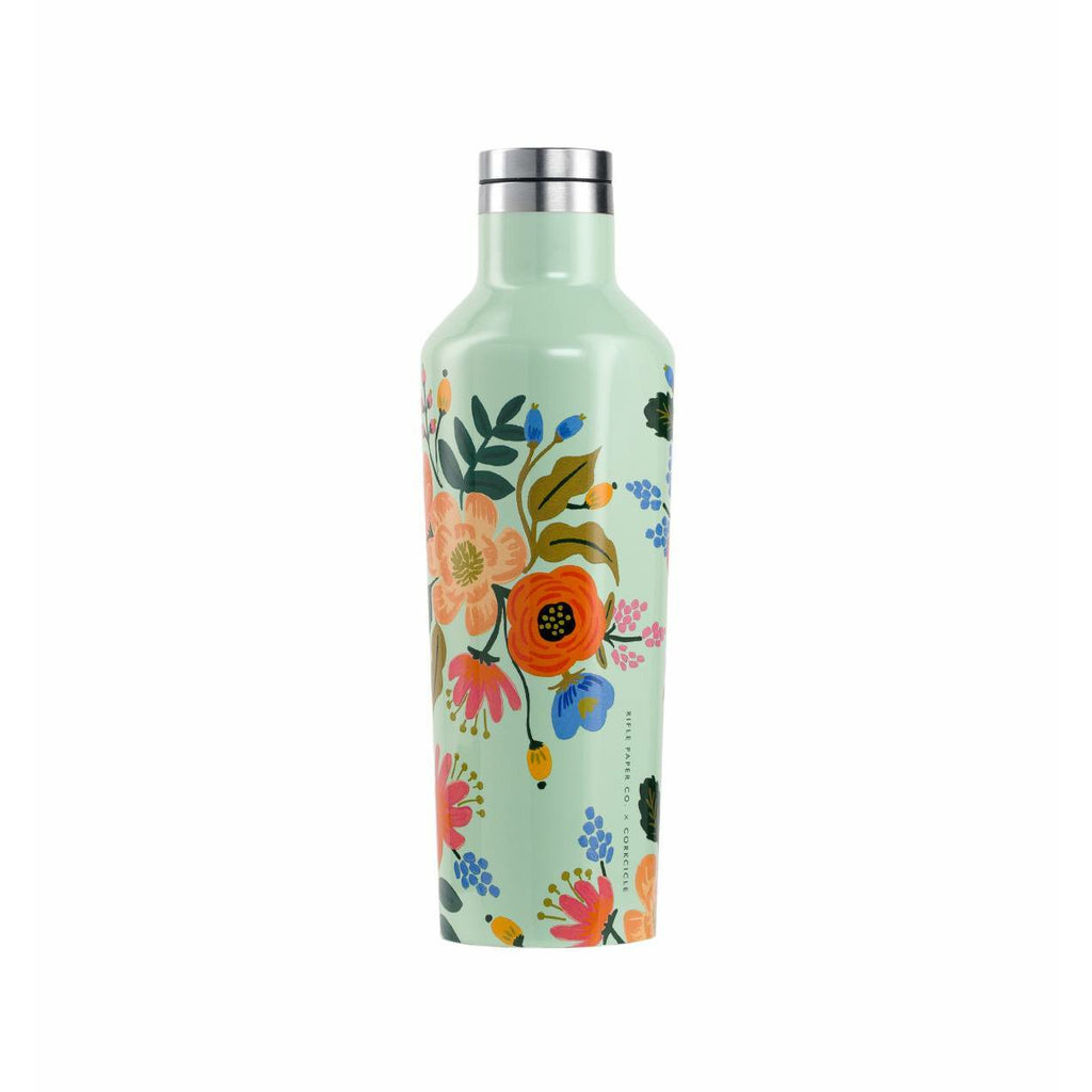 Mint Lively Floral Canteen 16 oz