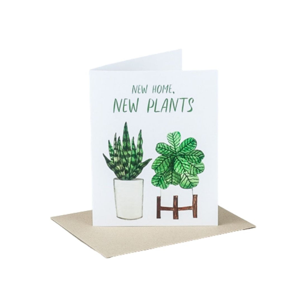 New Home New Plants Housewarming Card