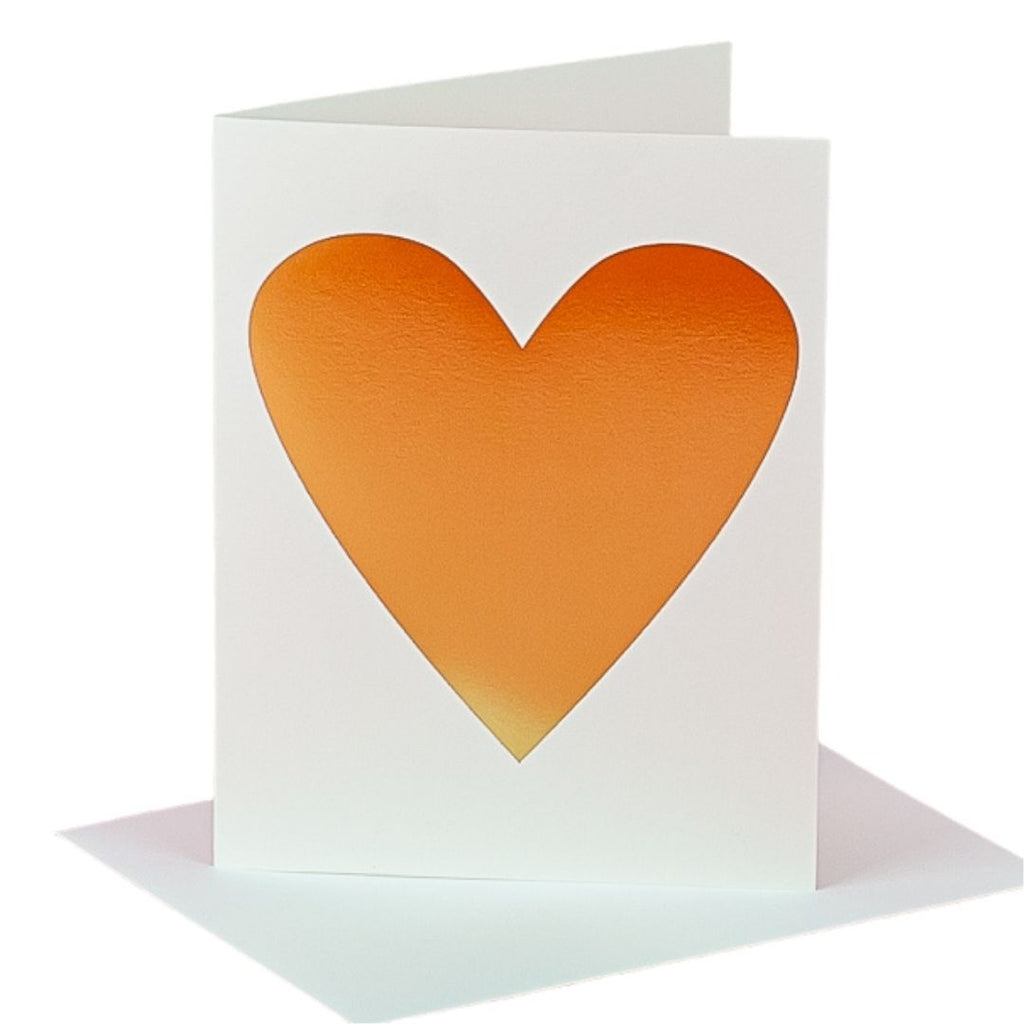 Gold Foil Heart Card