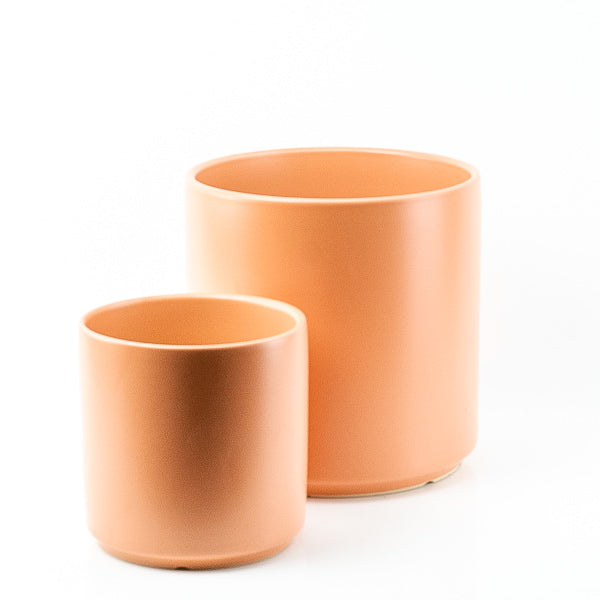 Modern Peach Ceramic Planter