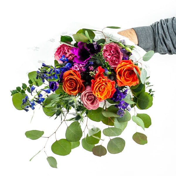 Hand-Tied Fresh Flower Bouquet (pick your size & color)