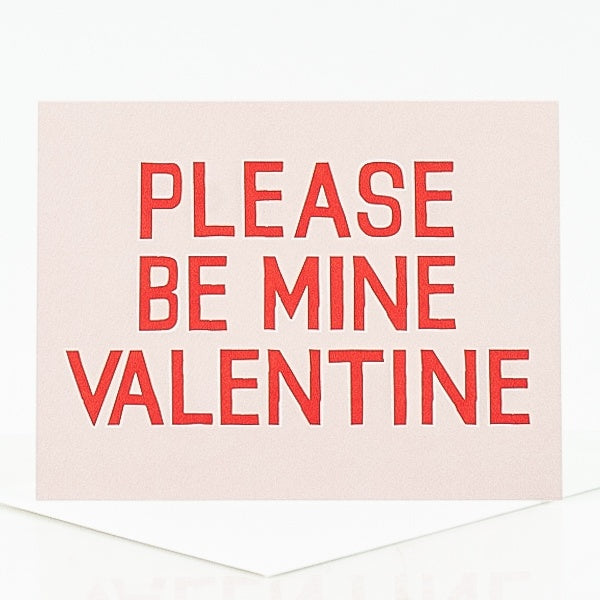 Please Be Mine Valentine Card