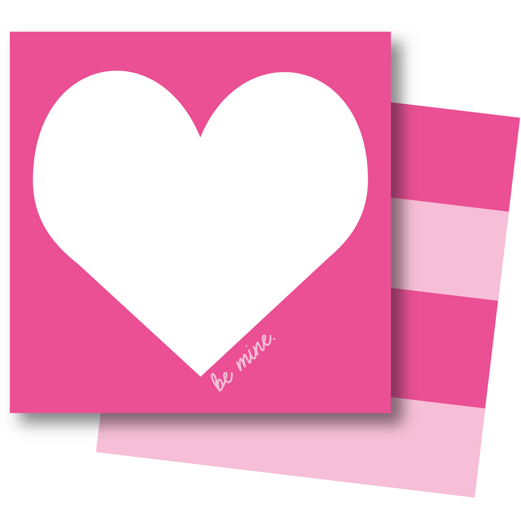 Pink and White Heart Card