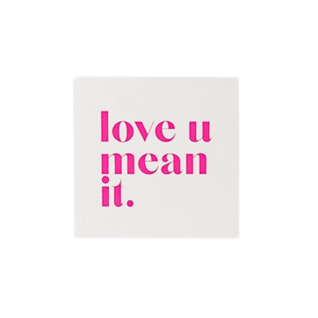 Love You Mean It Enclosure Card