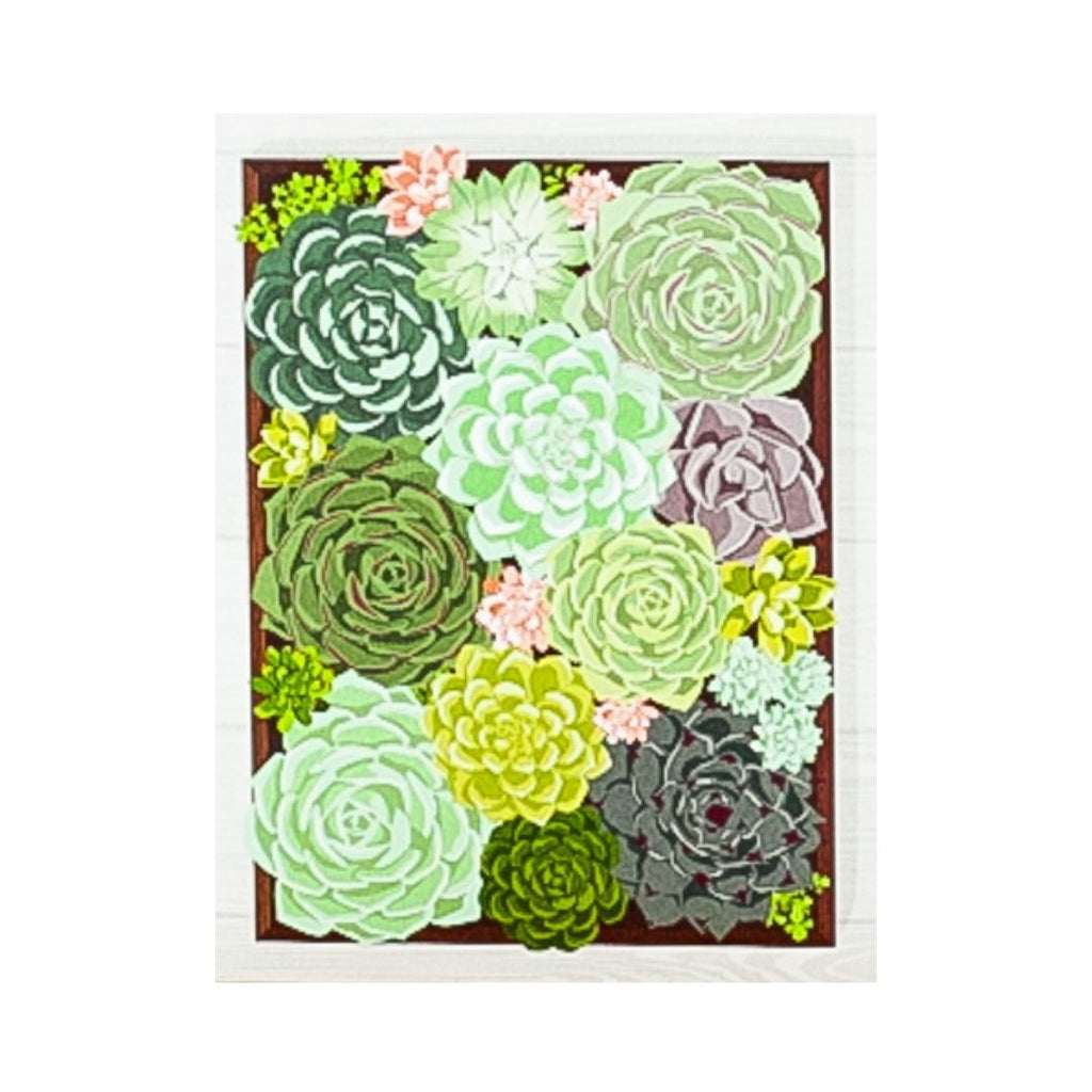 Succulent Garden Greeting Card