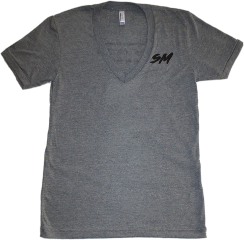 Women's Black Bar V-Neck