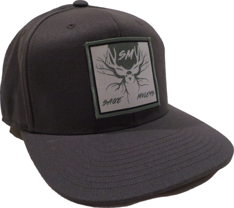 Dark Grey w/ Patch Hat