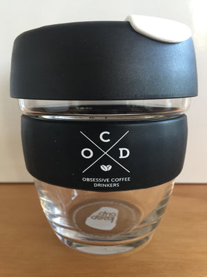 Black | Glass Keepcup - OCD coffee NZ