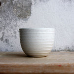 Cortado Cup, Light Stone Grey w/ glazed stripes (130 ml)