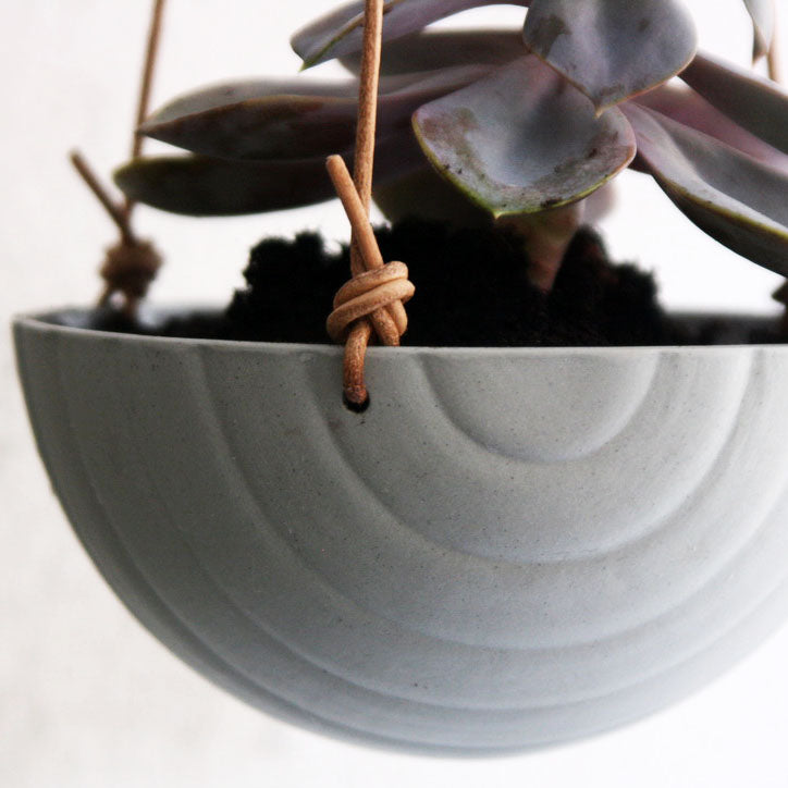 Hanging Bowl, Stone Blue w/ texture (medium)