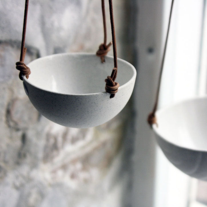 Hanging Bowl, Light Stone Grey (mini)