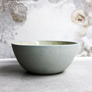 Bowl, Stone Blue w/ Crystal Glaze (medium)