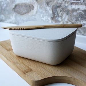 Butter Dish, Light Stone Grey w/ lid