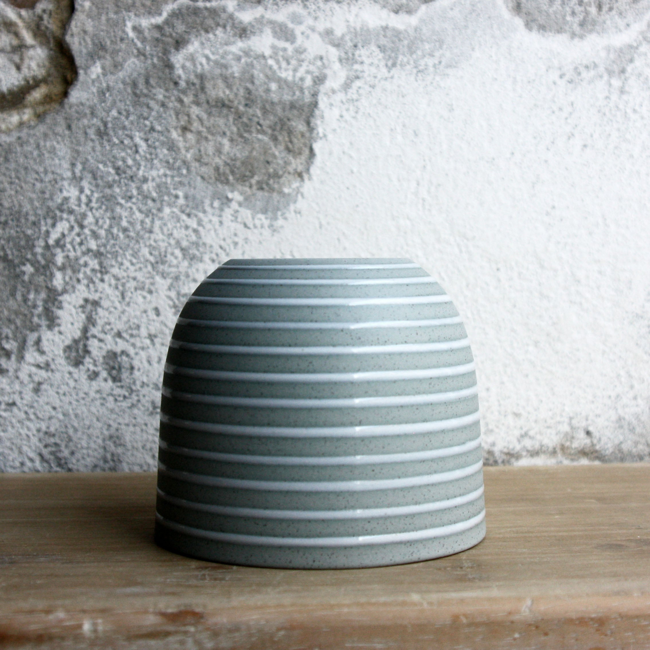 Coffee Cup, Stone Blue w/ glazed stripes (250 ml)