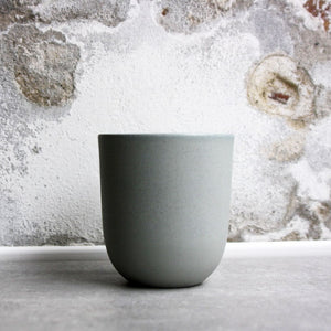 Coffe/Tea Cup, Stone Blue w/ crystal glaze (400 ml)