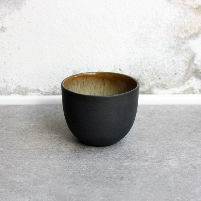 Cortado Cup, Black w/ crystal glaze (130 ml)