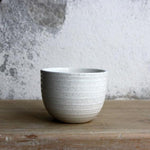 Espresso Cup, Light Stone Grey w/ glazed stripes (75 ml)