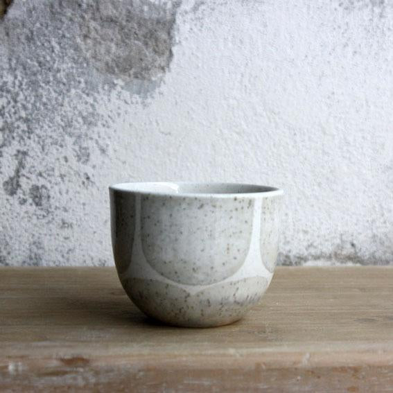 Espresso Cup, Light Stone Grey w/ brush strokes (75 ml)